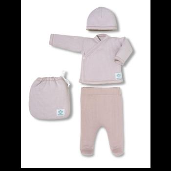 Pack Recién nacido multirayas rosa y blanco