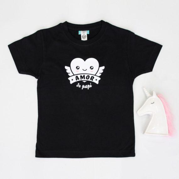 Camiseta Negra Amor de Papi