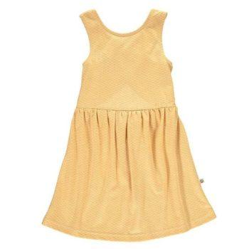 Vestido con espalda cruzada miel