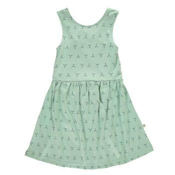 Vestido con espalda verde