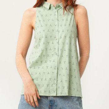 Camiseta Cuello Camisero Verde- Adulto