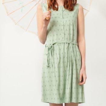 Vestido verde con cinturón- Adulto