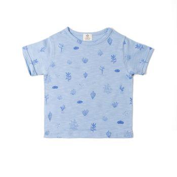 Camiseta flamé Algas azul
