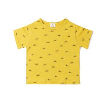 Camiseta Sol ocre