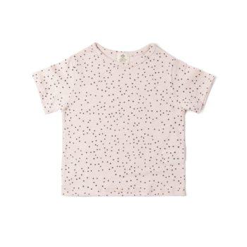 Camiseta flamé Topitos rosa