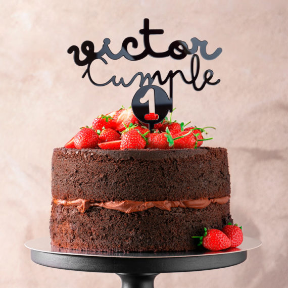 Cake Topper Cumpleaños Número