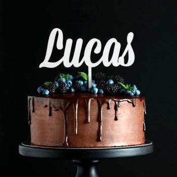 Cake Topper Nombre Cursiva