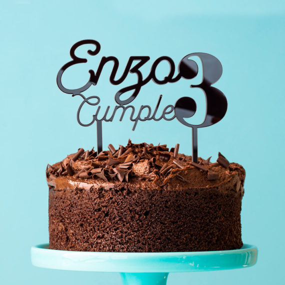 Cake Topper Cumpleaños Edad
