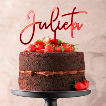 CAKE TOPPER NOMBRE LETRA FINA