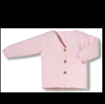 Chaqueta newborn con botones rosa