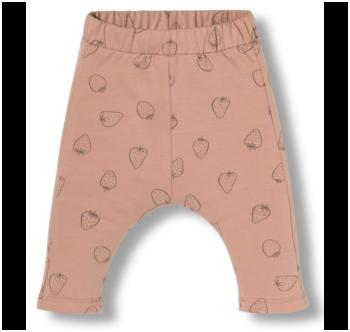 Pantalón bebé fresas rosa