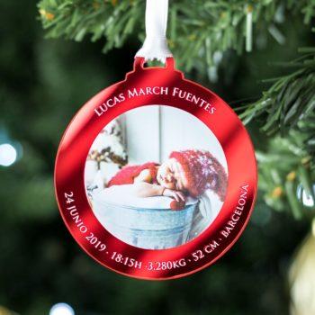 Bola de Navidad con Foto Nacimiento