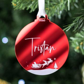 Bola de Navidad Nombre Espejo