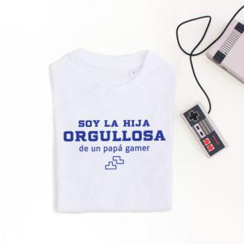 Camiseta Hij@ de Papá Gamer