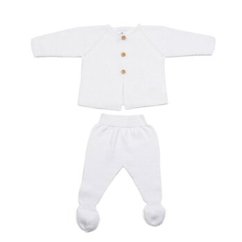 Primera puesta bebé links blanco