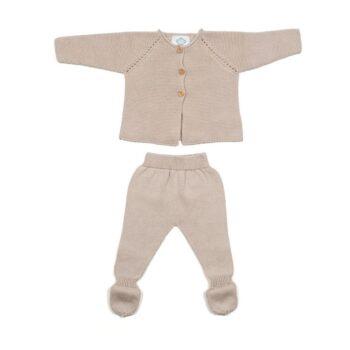 Primera puesta bebé links gris claro
