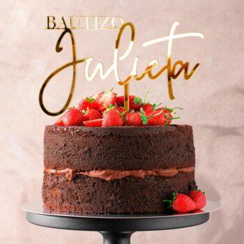 Cake Topper BAUTIZO
