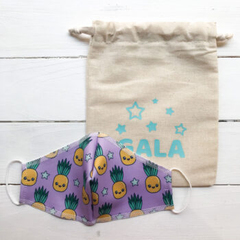 PACK Mascarilla Infantil + Bolsa PIÑAS