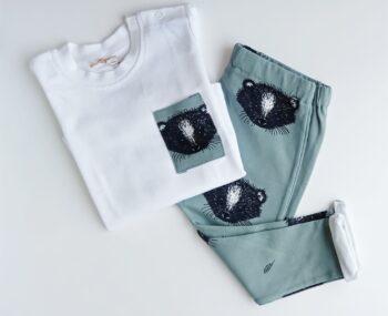 Conjunto Camiseta manga larga + Pantalón mapaches