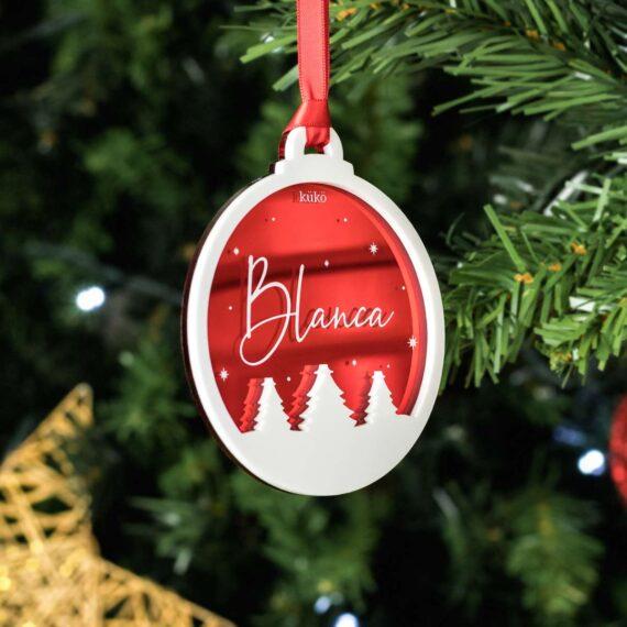 Bola de Navidad Nombre Relieve