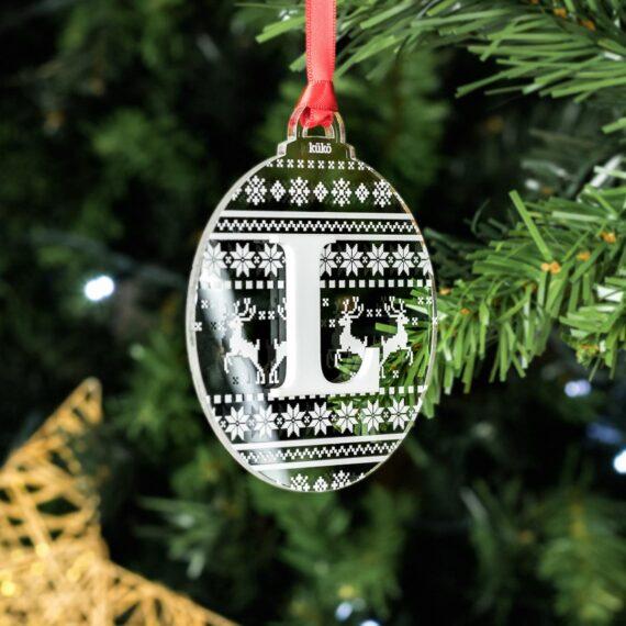 Bola de Navidad Estampado Espejo