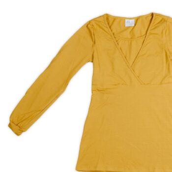 Camiseta Lactancia Mostaza