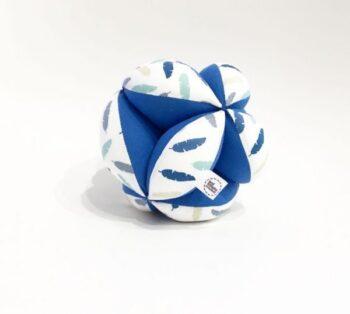 "Pelota ""Montessori"" Plumas azul"