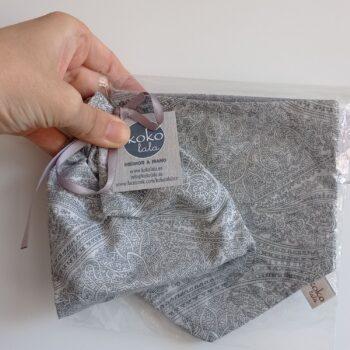 Pack Portachupetes Bolas+ Bandana Cashemir gris