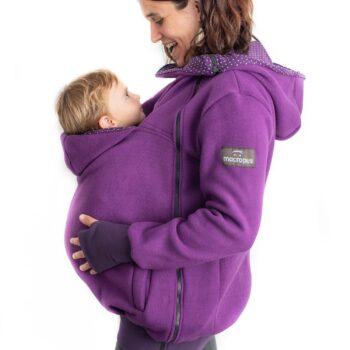 Abrigo porteo, embarazo y estándar lila + insertable